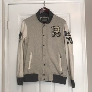 Roots Varsity Full Zip Sweater Size Small